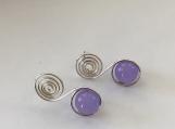 Lavender Jade Swirl Ear Studs