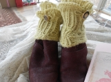 One Pair of Hand Knit Ankle Warmers