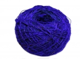 hand dyed recycled Sari Silk Yarn - Solid Colors (100 Grams)