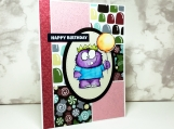 Sparkly Monster Birthday Card