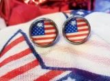 American flag studs