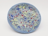 Blue Decorated Plate