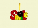 Smile Ornament - Acrylic - Hand Stained Home Decor
