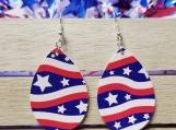 Star and stripe earrings