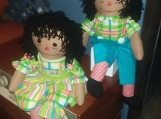 "20"" Caramel-Hand Crafted Cloth Raggedy Ann & Andy Dolls"