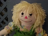 """20"""" Hand Crafted Classic Cloth Raggedy Ann Doll with Yellow Hair"""