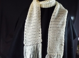 Crochet Cream Color Scarf