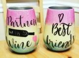 Custom wine tumblers (pair)