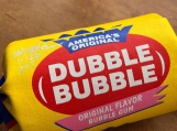 Dubble Bubble Giant Silk Screened on Canvas Bubble Gum Sculpture