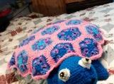 granny square turtle pillow