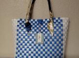 Handwoven Carryall Classic Checkered Design Handbag Tote Bag