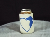 Open Heart Dog Can Koozie