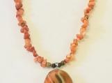 Orange Quartz Necklace