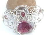 Pretty in Pink - Lodolite and Tourmaline in Silver