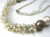 Pretty in White Necklace - Freshwater Pearl and Bali SIlver