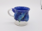 White and blue mug