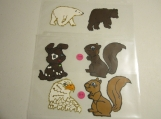 Window Clings non vinyl set of 4 (animals)