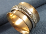 Goldfill and Sterling Floral Spinner Ring