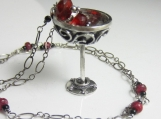 A Drink for a Feast Necklace - Sterling silver  goblet