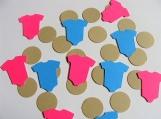 Blue and Pink Onesie die cuts
