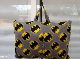 PILLOW childs travel pillow Bat Man Flannel with pocket
