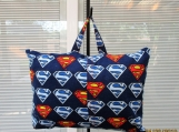 PILLOW childs travel pillow  Super Man Flannel with pocket
