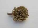 CROCHET hairclip/ lapel pin gold crochet flowe