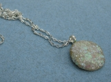 faux OPAL pendant round with chain