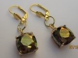 FAUX TOPAZ earrings with self clasping back