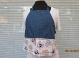 GROW-WITH-ME child's apron denim with princess pockets