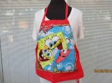GROW-WITH-ME child's apron Sponge Bob square pants with pockets