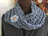 Womens Mobius Scarf - Grey