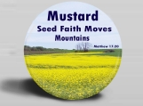 Photo Magnet - Mustard Seed Faith - Matthew 17 vs 20