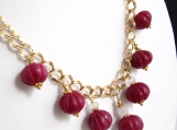 Ruby Lantern Necklace in Gold-Fill