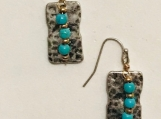 Silver & Turquoise Drops