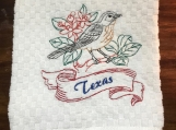 Texas-Mockingbird Dish Towel