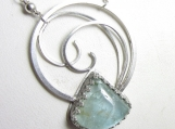 The Crashing Wave Necklace - Aquamarine in Sterling Silver