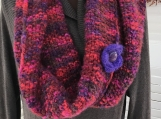 Women's Cowl Scarf/Shoulder Wrap - Reds/Purple