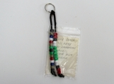 MILITARY bead medals keychain U.S. army Kuwaitt liberation and south east asia ribbons