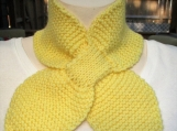 Handknit Yellow Lotus scarf