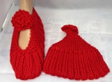 KNITTED Mary Jane slippers size 8-9