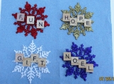 scrabble words of love  ornament/ gift tags