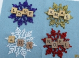 scrabble ornament/ gift tags set of 4