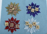 scrabble gift tags / ornaments tag