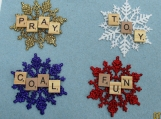 words of scrabble ornament/ gift tags set of 4