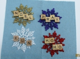 scrabble Christman ornament/ gift tags