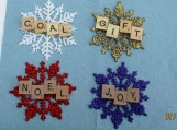 scrabble ornament/ gift tags Christmas