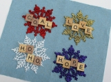 scrabble ornaments/ gift tags Christmas