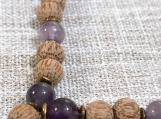 Amethyst and Coconut Palmwood Mala