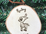 Babys First Christmas Ornament,Woodland Deer Ornament